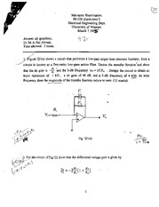 ELEC 226 Winter 1995 Midterm 2 Solutions