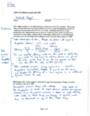 Midterm Exam with Answer Key Fall 2009