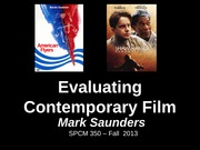 Week 1 - 1 Introduction Online - Saunders Fall 13