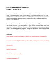 Practice Key-Ethical Considerations in Accounting (1).docx