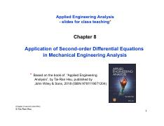 Chapter 8 Second order DEs pdf - Applied Engineering