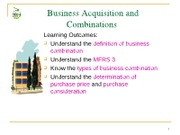 Topic 2 - Business Combinations