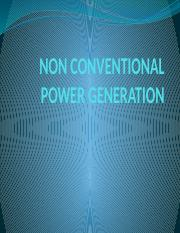 Non Conventional Power Generation-Power Plant.pptx