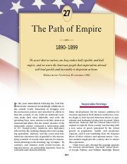 chapter 27 the path of empire