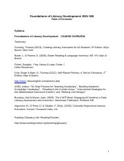 MAT RDG 500 Foundations of Reading Syllabus.R3