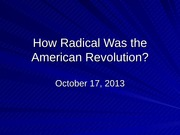 Was the american revolution radical essay
