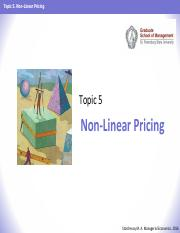 ME 2016 - Topic 05 - Non-Linear Pricing