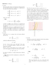 Homework 3 Solution Winter 2008 on Ordinary Differential Equations
