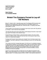 Bristol Tire Company Layoffs