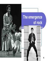 Elvis and the emergence of rock(2)