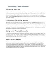 Financial Markets.docx