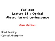 ECE340Lecture13-OpticalAbsorptionDist