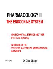 Lecture 4. Adrenocorticosteroids agonist & antagonist