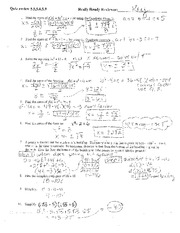 ... worksheet with answers Walled Lake Central High School MATH Algebra 2
