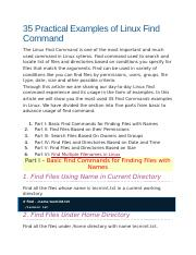 Find command example.docx
