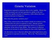 Lecture Notes Genetic Variation