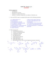 2120 Blackboard problem set 6 Reactions of carbonyl derivatives ANSWERS