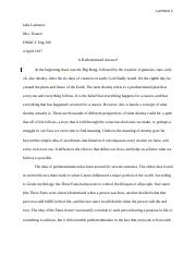 Personal Definition Essay Rough Draft