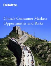 Article 6_China's Consumer Market_Opportunities and Risks