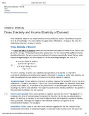 4. Cross Elasticity and Income Elasticity of Demand