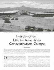 life in america's concentration camps