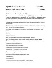 CCJ 3701 Study Tips for First Exam F16.docx
