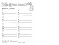 Ionic Compound Worksheet