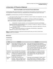 Cains_Week_Two_Health_Care_Financial_Terms_Worksheet.doc