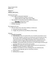 Exam 2 Study Guide MGMT 493