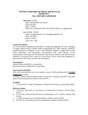 IEE5561 Semiconductor Physics and Device (I).doc