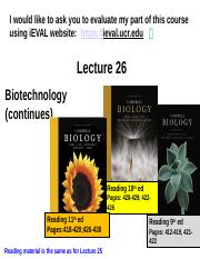 Lecture 26-BiotechnologyContinues.pptx