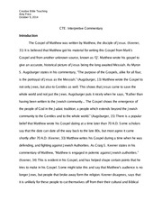 CBT - Interpretive Commentary Paper