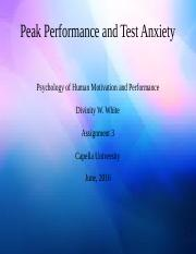 Peak Performance and Test Anxiety.odp
