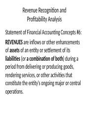Chapter 5 - Revenue Recognition - Revised New Version