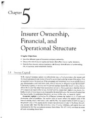 Chap 5-Insurer Ownership, Financial, and Operational Structure
