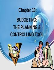 10 Chapter 10 Budgeting As  A Tool  For Planning