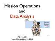 AS.171.321 Mission operations notes