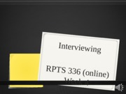 (14) Interviewing