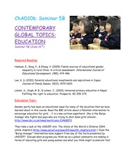 Seminar 5B - Contemporary Education