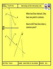 06 Intersecting and Non-Intersecting Lines and Planes