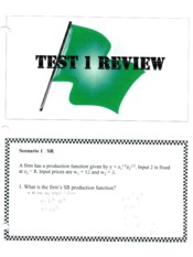 Test 1 Review Answer