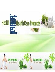 health care products.docx