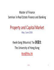 Capital and Property Market