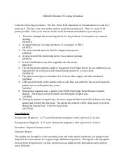 HIM1126 Module 05 Coding Worksheet
