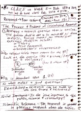 CJC 483 Class Notes- Problems of Criminology Research