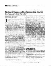 No-fault compensation for medical injuries, Studdert and Brennan.pdf