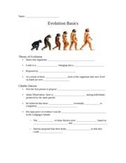evolution worksheet evolution worksheet name. Black Bedroom Furniture Sets. Home Design Ideas