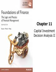 Ch11_Capital Investment Decision Analysis II