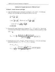 CHEM 1151 Example Questions for Midterm Exam 1 - Solutions(2).doc