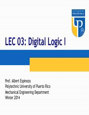 ME 3040_WI14_LEC03 - Digital Logic I